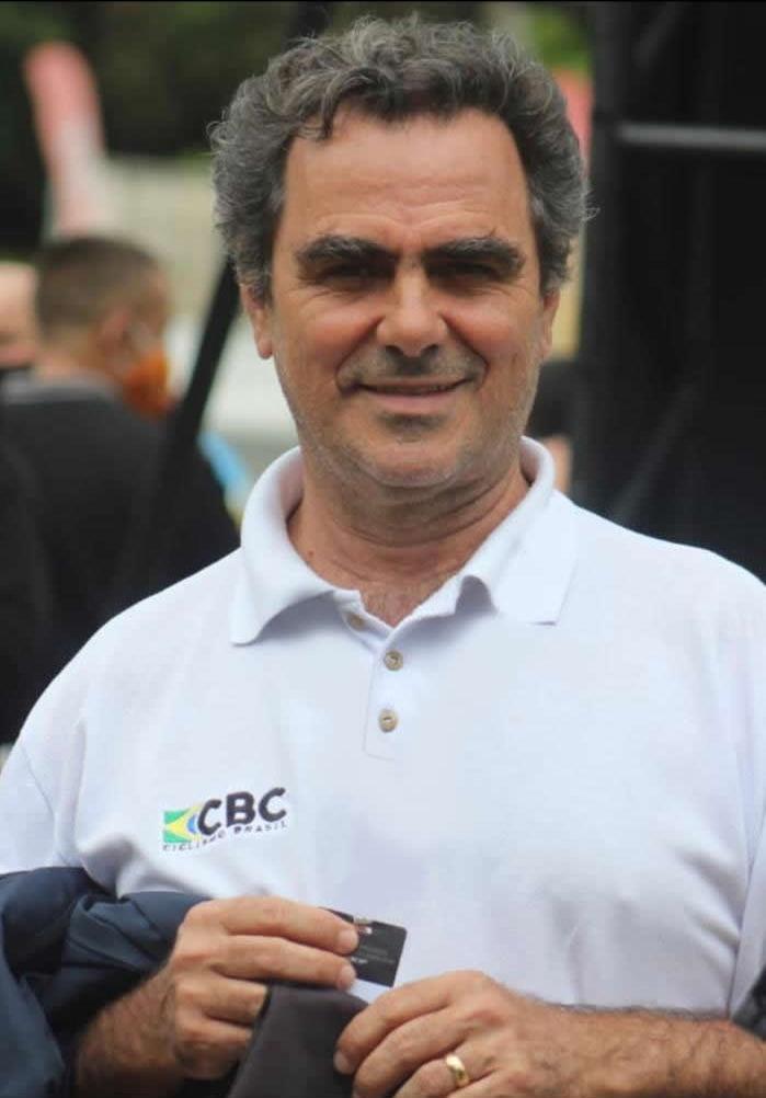 José Luiz Vasconcellos, presidente da Confederação Brasileira de Ciclismo (CBC). Foto: Divulgação.