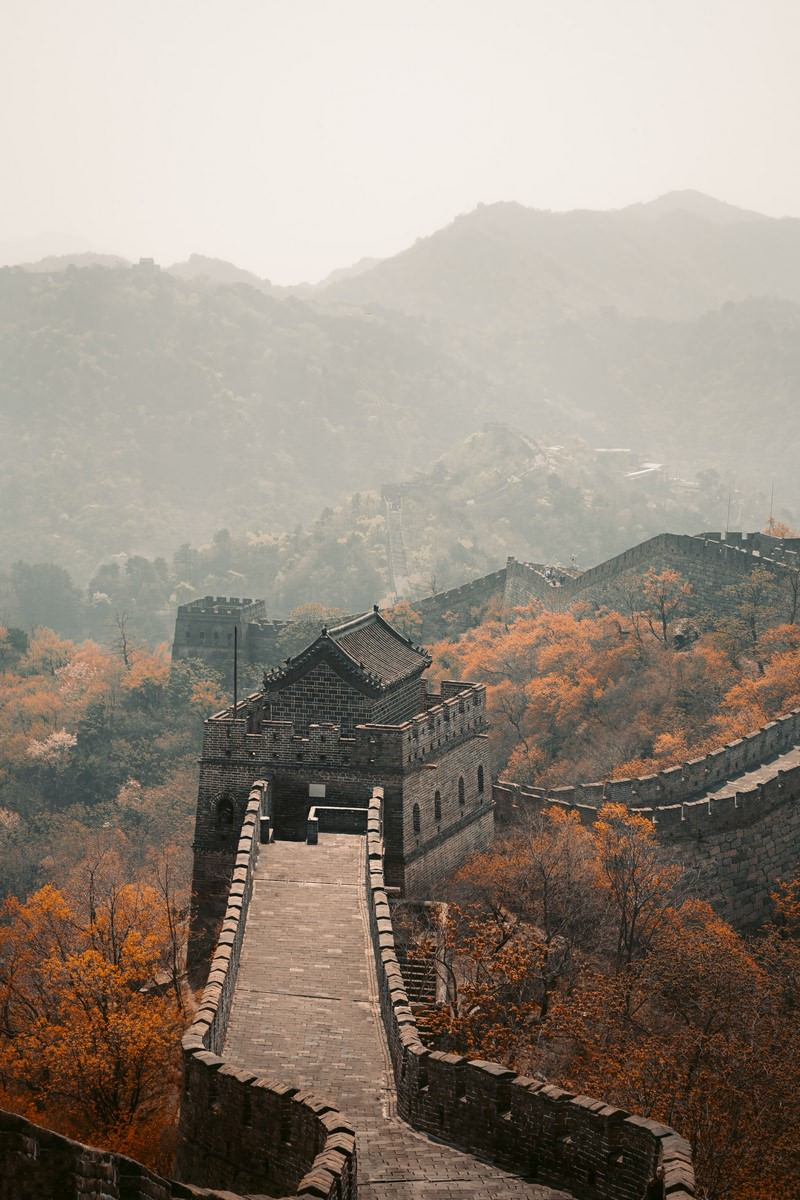 Muralha da China, Beijing, China. Foto: Paulo Marcelo Martins no Pexels.